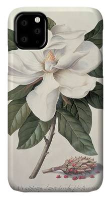 White Stag with Magnolias iphone 11 case