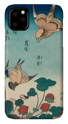 WILD STRAWBERRIES AND BIRDS KASUSHIKA HOKUSAI iphone case