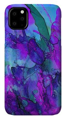 The Blue Abyss - Alcohol Ink Painting iphone 11 case