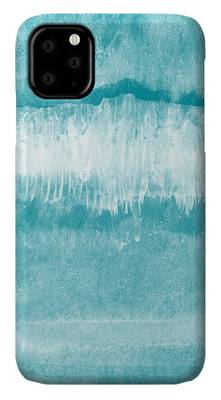 Waves Mixed Media iPhone Cases