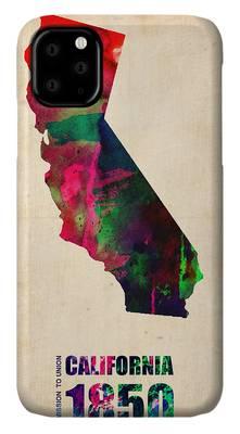 Maps California iPhone Cases