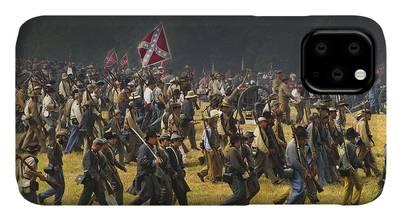Civil War Reenactment Photographs iPhone Cases