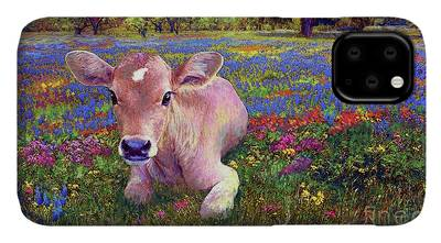 Calves Paintings iPhone Cases
