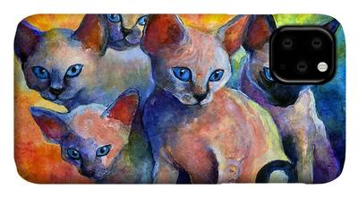 Art Kitten iPhone Cases
