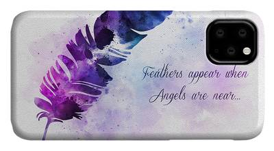 Angel Mixed Media iPhone Cases