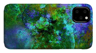Moody Gardens Mixed Media iPhone Cases