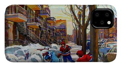Montreal Street Scene iPhone Cases