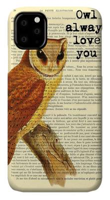 Owl's Summer Love Letters iPhone 11 case