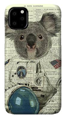 Space Koala iphone case