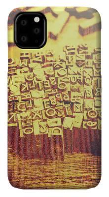 Written Language Photographs iPhone Cases