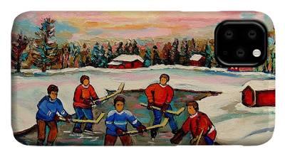 Designs Similar to Pond Hockey Countryscene