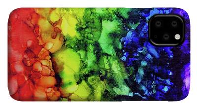Blue Tides - Alcohol Ink Painting iPhone 11 case