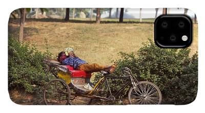 Photograph - Rickshaw Rider Relaxing by Travel Pics