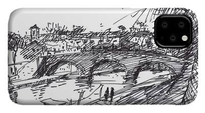River Drawings iPhone Cases