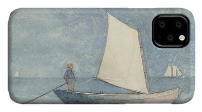 Docked Boats Paintings iPhone Cases