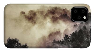 Wander trough the foggy forest iPhone 11 case