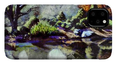 Brookside Gardens Paintings iPhone Cases
