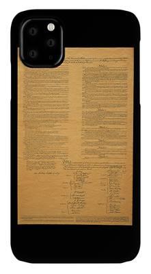 Us Constitution Photographs iPhone Cases