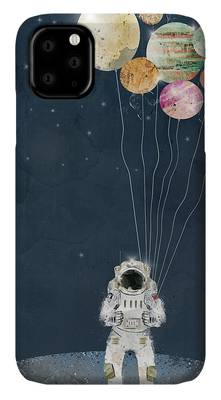 Solar Planets Paintings iPhone Cases