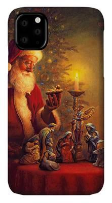 Santa Claus Paintings iPhone Cases