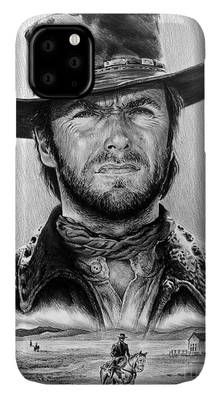 Cowboy Drawings iPhone Cases
