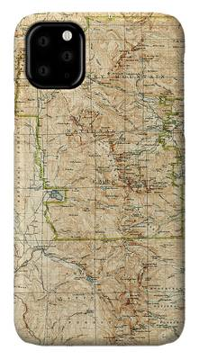 Rocky Mountain Drawings iPhone Cases