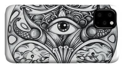 Eye Drawings iPhone Cases