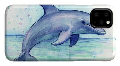 Dolphin Paintings iPhone Cases