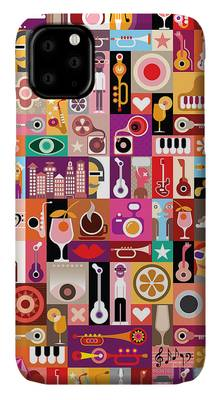 Musical Note Digital Art iPhone Cases