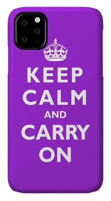 Keep Calm And Carry On Photographs iPhone Cases