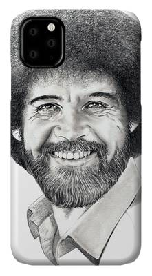 Bob Ross Drawings iPhone Cases