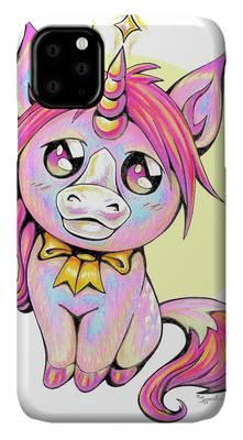 Cute unicorn illustration. iPhone Case