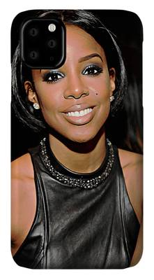 Kelly Rowland Digital Art iPhone Cases