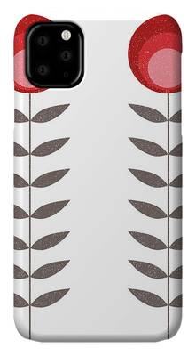 Wonderful Mid-Century Style Evening Lily And Wildflower Pattern iPhone 11 case