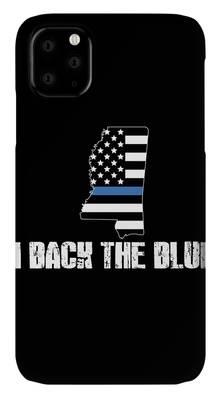 Police blue line Flag 2 iphone case