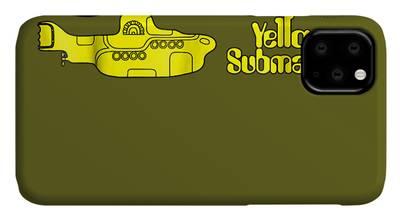 Yellow Submarine Collage iphone case