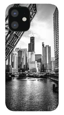 Chicago Black And White iPhone 12 Cases