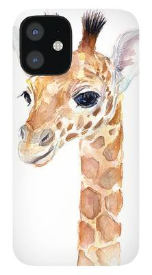 Watercolor Giraffe Suitable for Any Mobile Phone Three in One Data Line