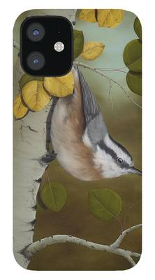 Red-breasted Nuthatch iPhone 12 Cases
