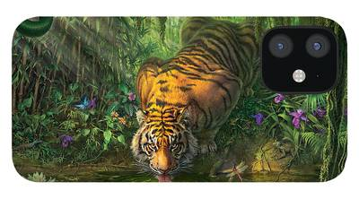 Tiger Orchid iPhone Cases
