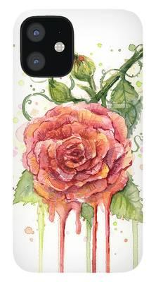 Rose Bud iPhone 12 Cases