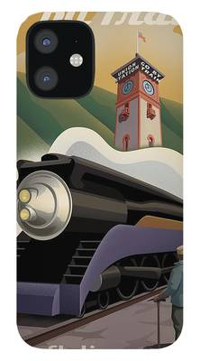 Train Station iPhone 12 Cases