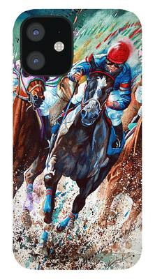 Horse Race iPhone 12 Cases