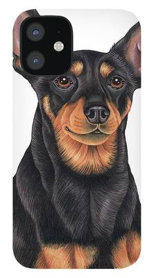 Miniature Pinscher iPhone 12 Cases