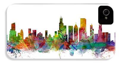 Chicago Skyline iPhone 4 Cases