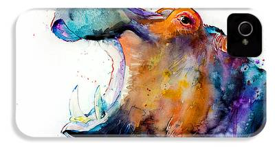 Hippopotamus iPhone 4 Cases