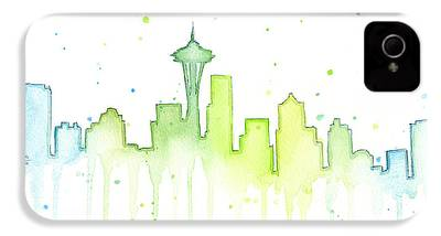 Seattle Skyline iPhone 4 Cases