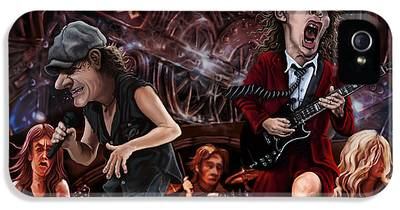 Angus Young iPhone 5 Cases