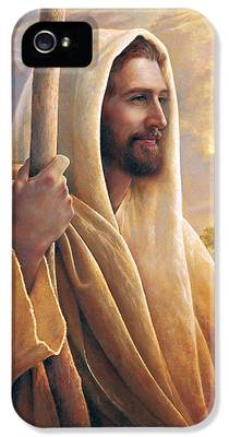 Smiling Jesus iPhone 5 Cases