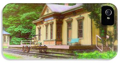 Railroad Station Photographs iPhone 5 Cases